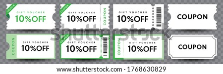 COUPON FASHION TICKET CARD  element template for graphics design. Vector illustration #1768630829