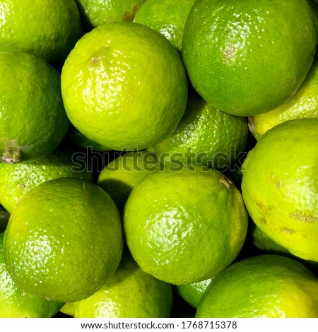 Macro Photo food citrus fruit lime. Stock photo background Texture juicy green tropical lime fruit. #1768715378