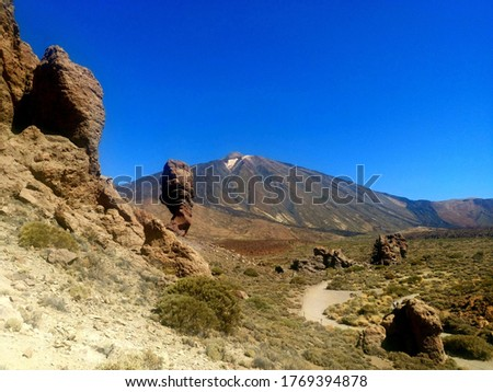 Mount Teide and National park at Tenerife, Canary Islands, Spain #1769394878