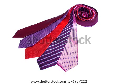 men's ties on a white background #176957222