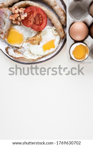 Flat lay breakfast concept with copy-space Photo #1769630702