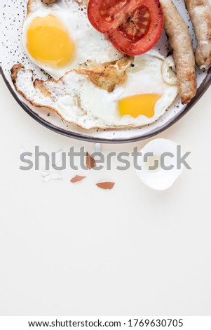 Top view breakfast concept with copy-space Photo #1769630705