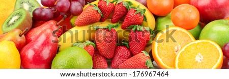 fresh fruits background #176967464