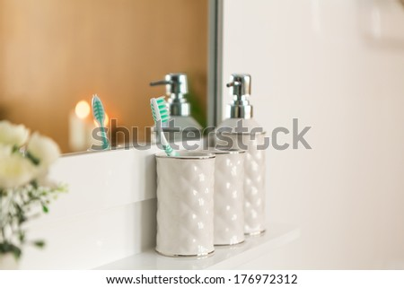 Modern house bathroom interior #176972312