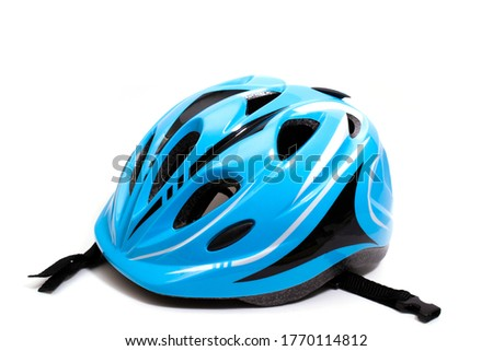 children's bicycle helmet. isolated on white background. copy space. Royalty-Free Stock Photo #1770114812