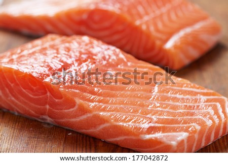 Fresh salmon #177042872