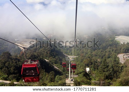 cable car transportation in the Genting Highlands, Malaysia #1770711281