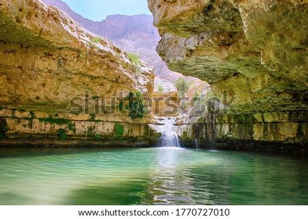 Ein Gedi nature reserve, Arugot stream, Israel Royalty-Free Stock Photo #1770727010