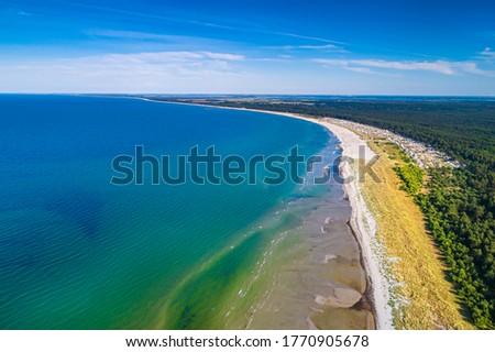 Baltic sea, Germany, Mecklenburg-Western Pomerania, Darss, Prerow, aeriel view of seaside Royalty-Free Stock Photo #1770905678