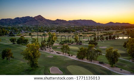 Paradise Valley Arizona United States southwestern sunset. Royalty-Free Stock Photo #1771135013