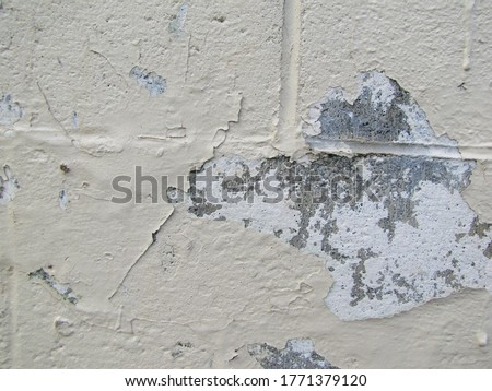 Flaking Wall Plaster Stock Images in Hd Paint With an Orange Vibrant Undercoat Showing Up Through Cracked Old Weathered Painted Blue Plastered Peeled Interior Wall Background.