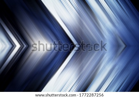 Technology future arrows abstract background, moving forward concept. Abstract blue light arrow speed power technology futuristic background illustration. Motion lines