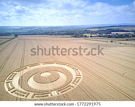 Crop Circle Wiltshire Uk Drone Photography