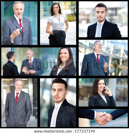Composition of business people at work  #177237194