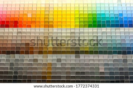 Colorful Paint Samples on a Wall Abstract Royalty-Free Stock Photo #1772374331