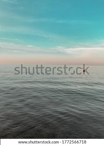 Blue sky beach background Chicago beach July 2020 #1772566718