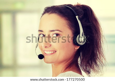 Young woman - call center worker #177270500