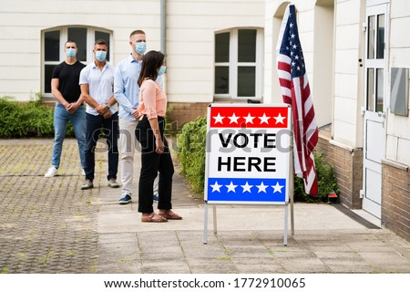 Vote Place Sign At Election Place Or Booth Royalty-Free Stock Photo #1772910065