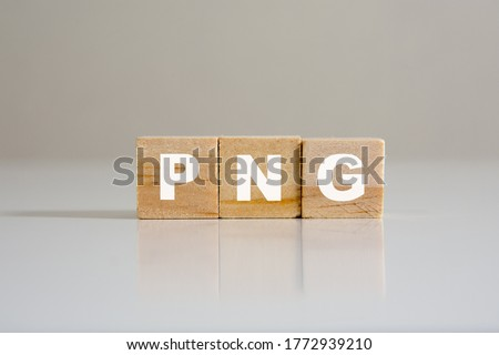 Conceptual image of cubed text. about format of photography png