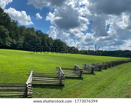 Clouds above the Kennesaw Mountain National Battlefield Park Royalty-Free Stock Photo #1773076394