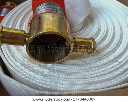NEW Brass head, fire fighter hose, white color