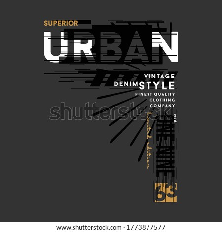 urban street stylish text frame, abstract  typography slogan t shirt style, design vector illustration, denim vintage for ready print Royalty-Free Stock Photo #1773877577