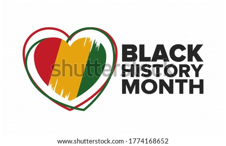 Black History Month. African American History. Celebrated annual. In February in United States and Canada. In October in Great Britain. Poster, card, banner, background. Vector illustration Royalty-Free Stock Photo #1774168652