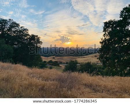 Beautiful view on a hike near alameda