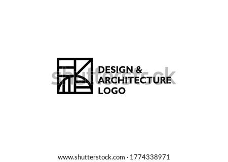 Architecture logo design vector illustration Royalty-Free Stock Photo #1774338971
