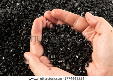 Close-up of plastic polymer granules Royalty-Free Stock Photo #1774663226
