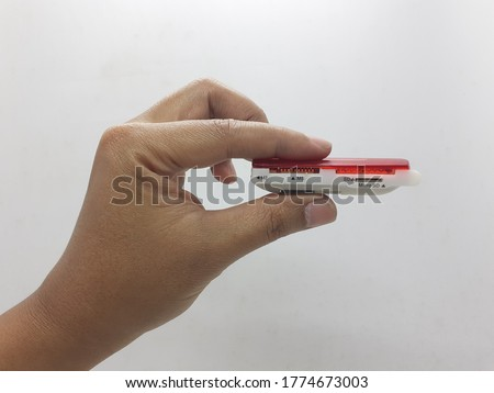 Modern Electronic USB External Memory Micro SD Card Reader for Computer Accessories in White Isolated Background Royalty-Free Stock Photo #1774673003