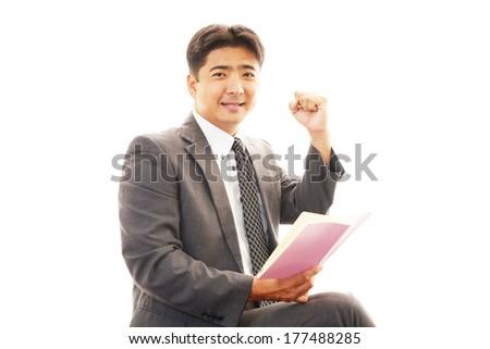 Businessman enjoying success #177488285