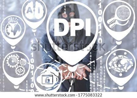 Deep Packet Inspection Hacking Threat Technology. DPI Concept.