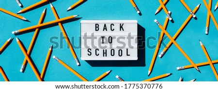 Banner for the site with an office and the inscription back to school.