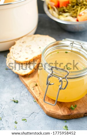Vegetable stock made with fresh ingredients