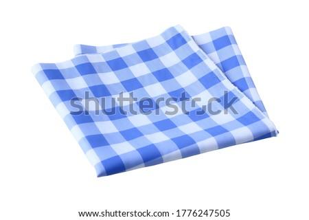 Placemat, Scotch pattern light blue-white on white background