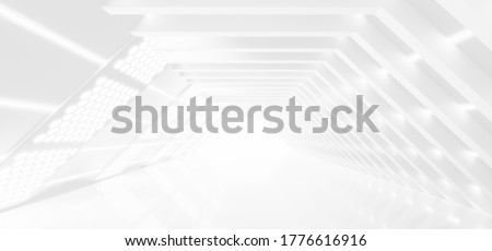 Abstract Futuristic empty floor and room Sci-Fi Corridor With light for showcase,room,interior,display products.Modern Future cement floor and wall background technology interior concept.3d render Royalty-Free Stock Photo #1776616916