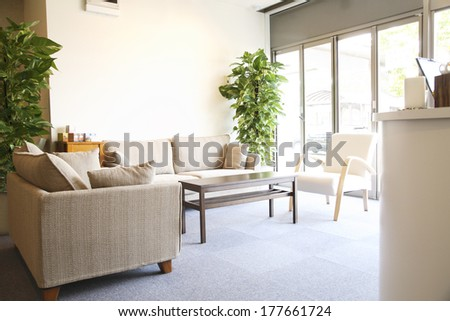 Waiting room of the beauty salon #177661724