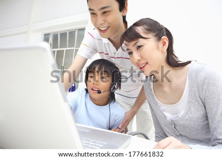Japanese Parent and child surfing the Internet #177661832