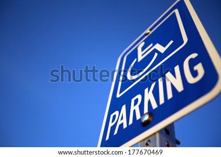 Disabled Handicapped Parking Sign