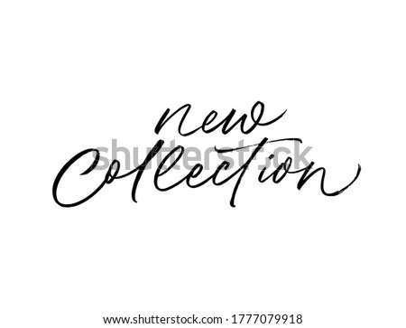 New collection ink brush vector lettering. Modern slogan handwritten vector calligraphy. Black paint lettering isolated on white background. Design for social media, advertising design, poster, banner Royalty-Free Stock Photo #1777079918