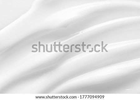 Beauty skincare cream texture. White lotion, moisturizer, creamy cosmetic product background Royalty-Free Stock Photo #1777094909