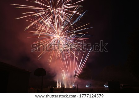 Long exposure firework pictures on the fourth of July