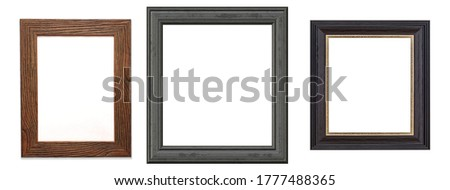 antique isolated wooden picture frame