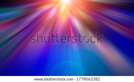 Abstract blurred radial vibrant navy blue color background. Light rays at night.