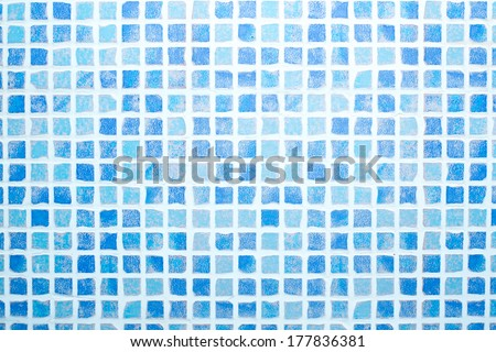 Mosaic tiled blue & grey pattern background