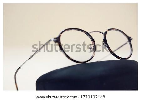 Prescription Glass Eyewear Frame Metal Frame Round Shape Swuare Frame Silver  Pilot Frame Product Photography #1779197168