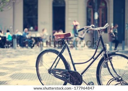 Vintage Bicycle in the Sunset Light