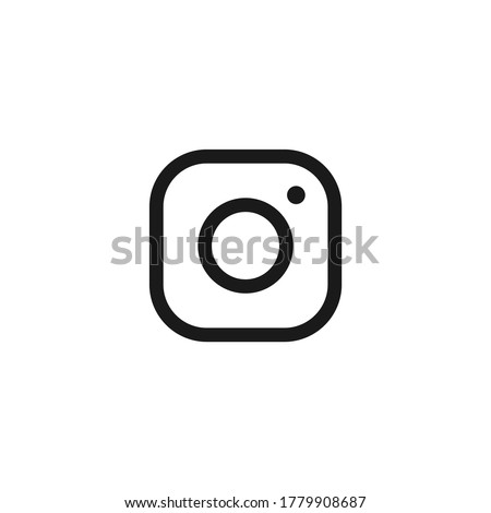 Camera icon on instagram style. Photo frame on a white background
