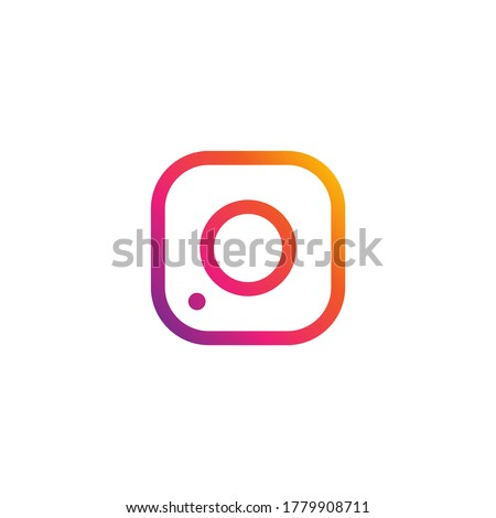 Camera icon. Photo frame on a white background
